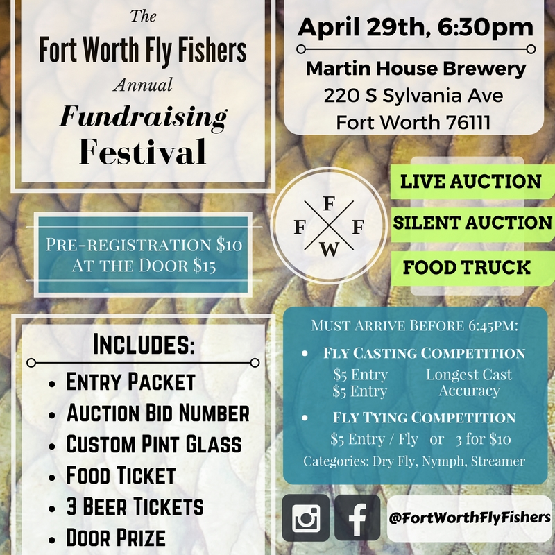 Fort Worth Fly Fishers 2017 fundraiser