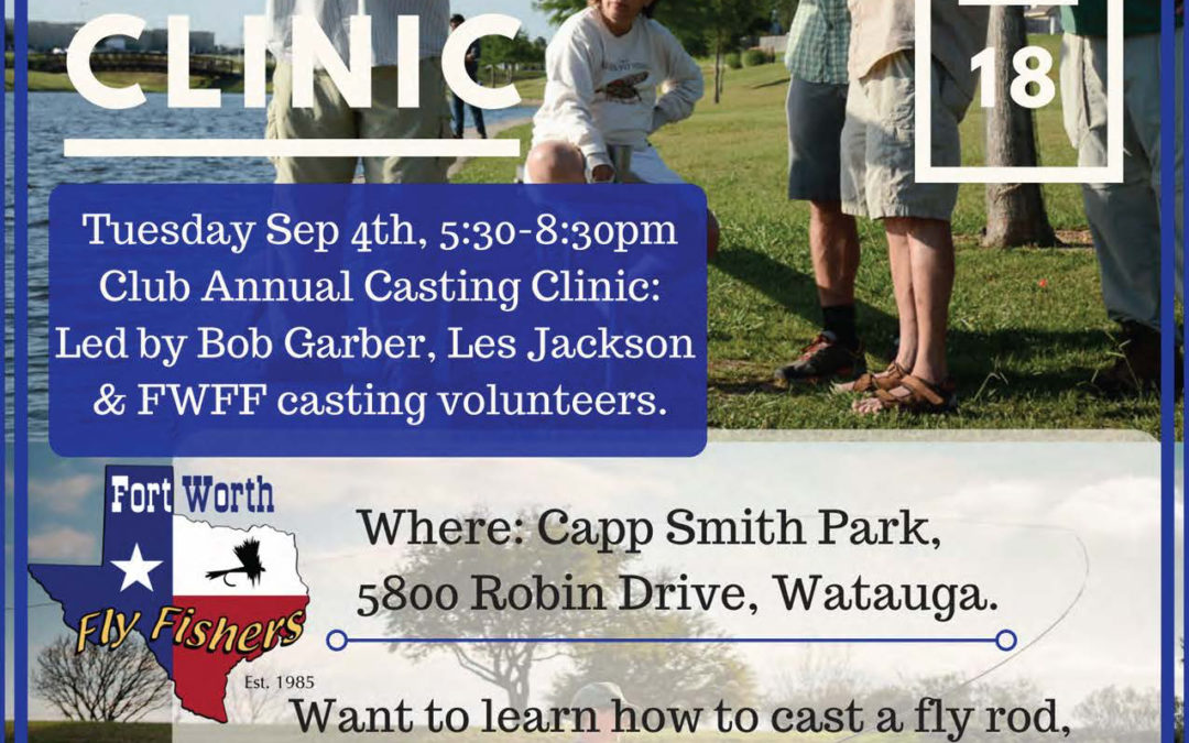 Don't forget: Casting Clinic is September 4 membership meeting