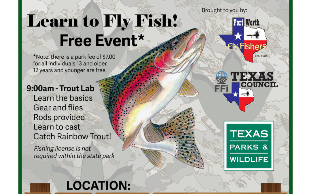 Join us for a special Fly Fish 101 on the Paluxy River on March 2