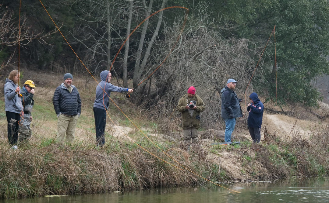 Fly Fish 101 draws a whole pack of students in Glen Rose