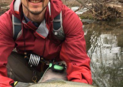 Carlos Crespo and trout