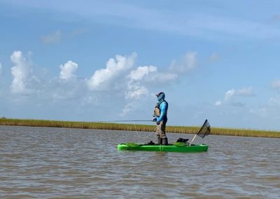 kayaker on bay