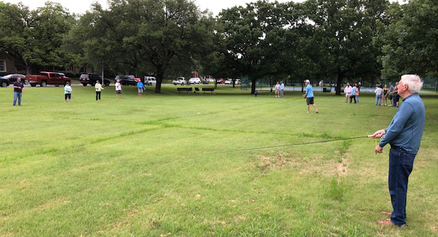 Sept. 7 membership meeting offers fly casting in Fort Worth's Monticello Park