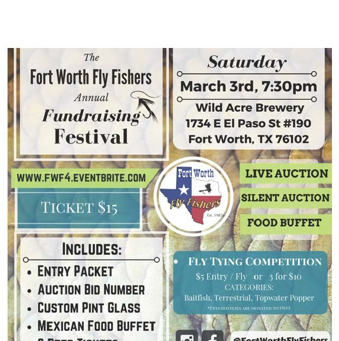 Register now for the annual Fly Fishers Fundraising Festival on March 3